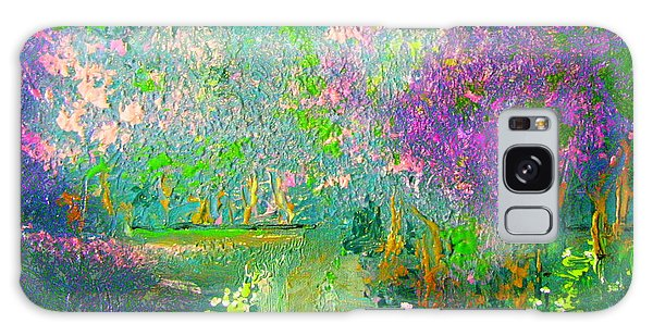 Meadow Trail By Colleen Ranney Galaxy Case