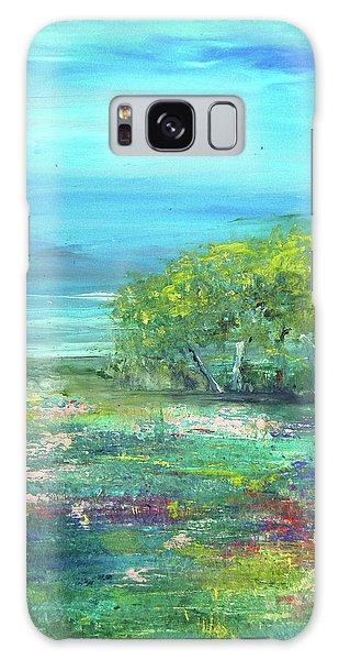 Meadow Trees Galaxy Case
