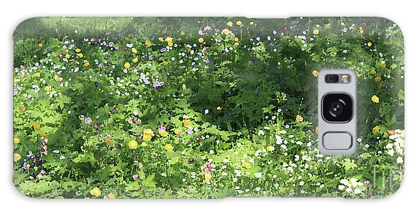 Meadow With Spring Flowers Galaxy Case