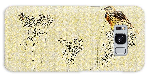 Meadowlark In Kansas Prairie 1 Galaxy Case