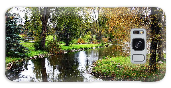 Meandering Creek In Autumn Galaxy Case