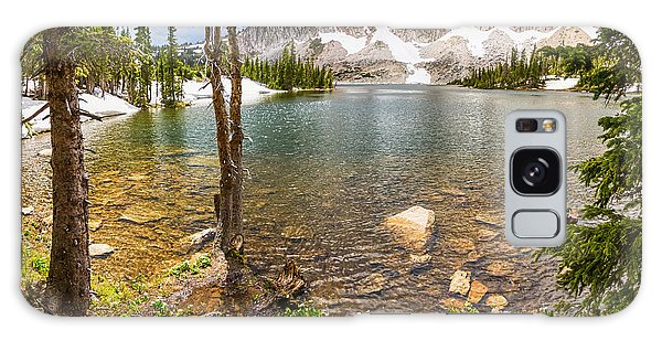 Medicine Bow Snowy Mountain Range Lake View Galaxy Case