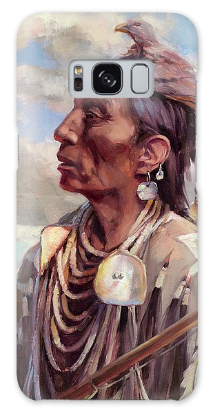 Native American Galaxy Case - Medicine Crow by Steve Henderson
