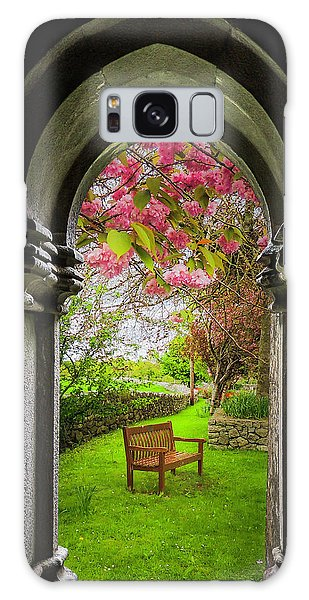 Galaxy Case featuring the photograph Medieval Abbey In Irish Spring by James Truett