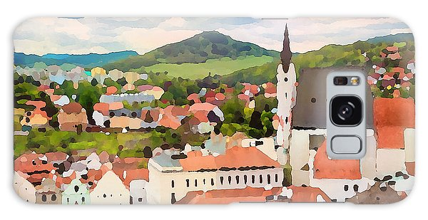 Galaxy Case featuring the digital art Medieval Village  by Shelli Fitzpatrick