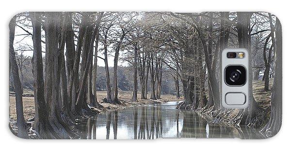 Medina River In Winter Galaxy Case