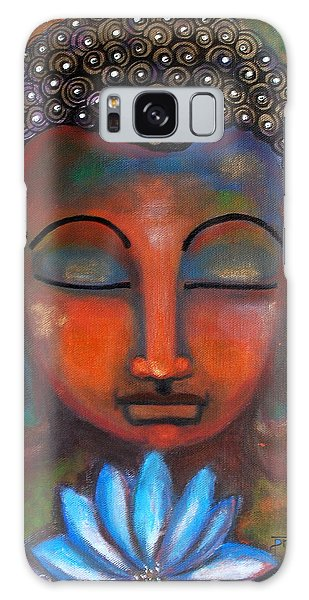 Meditating Buddha With A Blue Lotus Galaxy Case