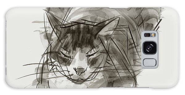 Meditating Cat Galaxy Case