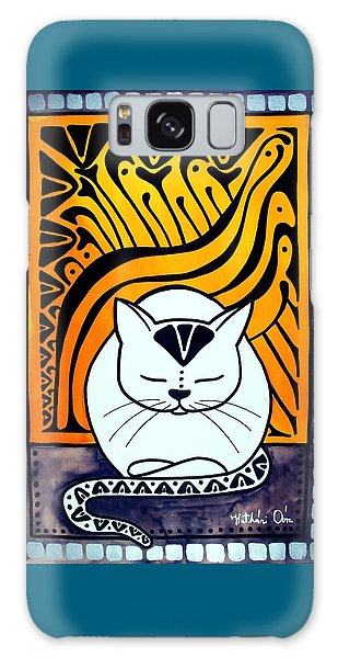 Meditation - Cat Art By Dora Hathazi Mendes Galaxy Case by Dora Hathazi Mendes
