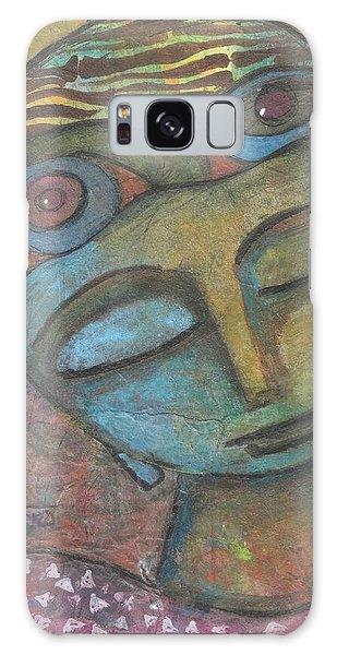 Galaxy Case featuring the mixed media Meditative Awareness by Prerna Poojara