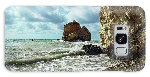 Mediterranean Sea, Pebbles, Large Stones, Sea Foam - The Legendary Birthplace Of Aphrodite Galaxy Case