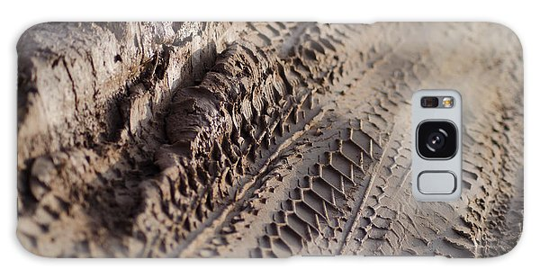 Medium Cu Motorcycle And Car Tracks In Mud Galaxy Case by Jason Rosette