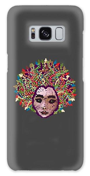 Medusa With Transparent Background Galaxy Case by R  Allen Swezey