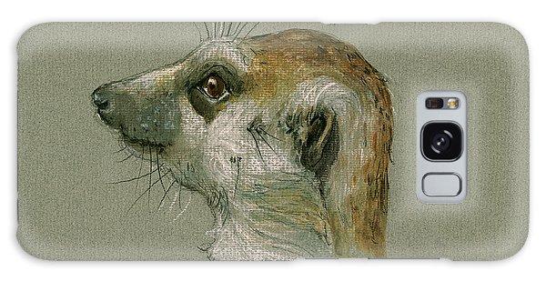 Meerkat Galaxy S8 Case - Meerkat Or Suricate Painting by Juan  Bosco