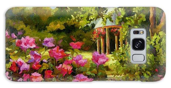Meet Me In The Garden Galaxy Case by Chris Brandley