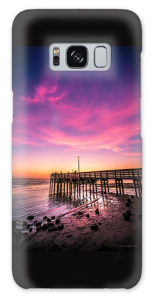 Board Walk Galaxy Case - Meeting On The Pier by Marvin Spates