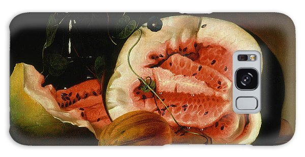 Melons And Morning Glories  Galaxy Case by Raphaelle Peale