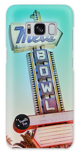 Mels Bowl Retro Sign Galaxy Case
