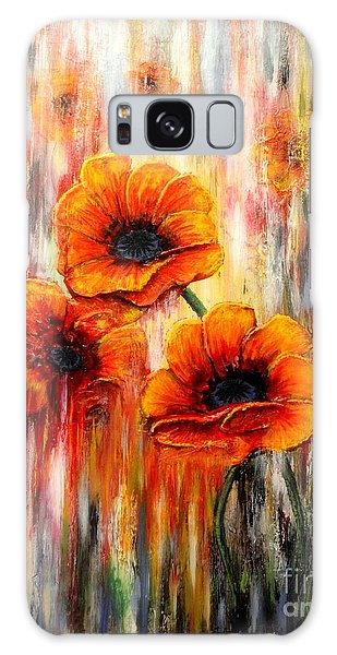 Melting Flowers Galaxy Case by Greg Moores