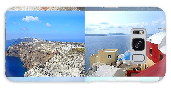 Memories From Santorini Galaxy Case by Ana Maria Edulescu