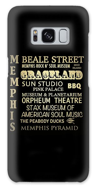 Memphis Tennessee Famous Landmarks Galaxy Case