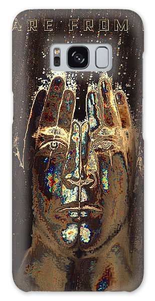 Men Are From Mars Gold Galaxy Case by ISAW Gallery
