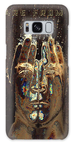Galaxy Case featuring the digital art Men Are From Mars by ISAW Company