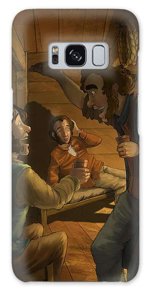 Men In A Hut Galaxy Case