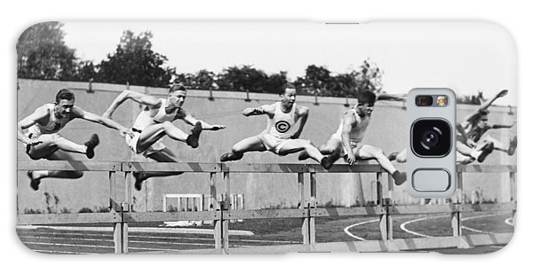 Amateur Galaxy Case - Men Running High Hurdles by Underwood Archives