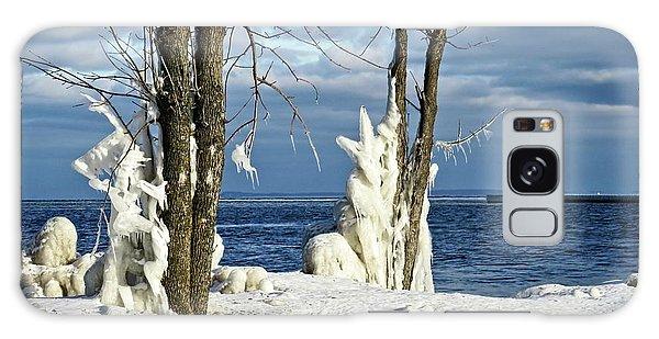 Menominee Lighthouse Ice Sculptures Galaxy Case