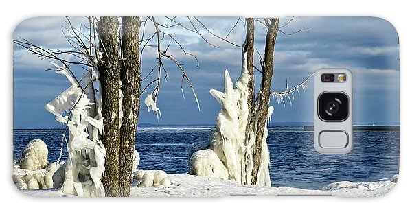 Menominee Lighthouse Ice Sculptures Galaxy Case
