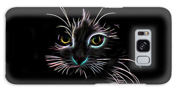 Meow  Galaxy Case by Aaron Berg