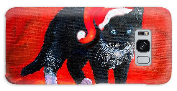 Whining Galaxy Case - Meow Christmas Kitty by Zina Stromberg