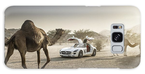 Mercedes Benz Sls With Camels In Saudi Galaxy Case
