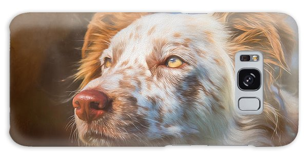 Merle Border Collie Galaxy Case by Eleanor Abramson