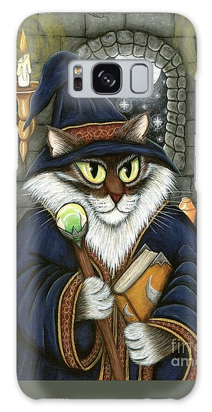 Galaxy Case featuring the painting Merlin The Magician Cat by Carrie Hawks