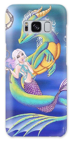 Mermaid And Sea Dragon Galaxy Case