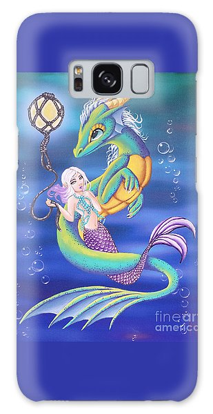 Galaxy Case featuring the painting Mermaid And Sea Dragon by Mary Hoy