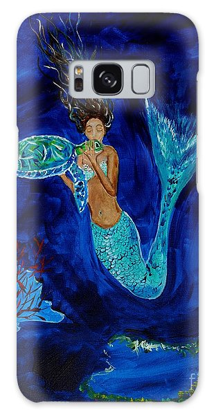 Mermaid And The Sea Turtle Galaxy Case