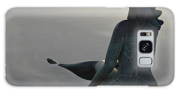 Mermaid Bronze Statue In The Faro Marina Galaxy Case by Angelo DeVal