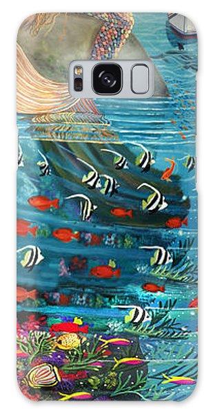 Mermaid In Paradise Galaxy Case by Bonnie Siracusa