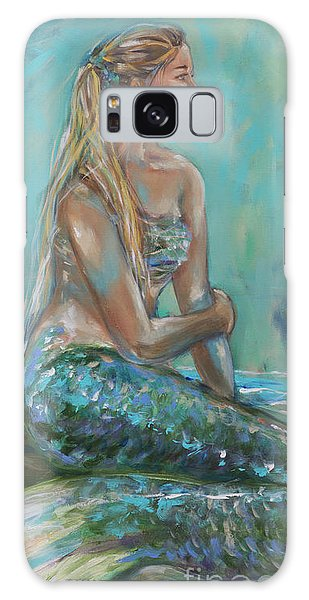 Mermaid Sunning On Shore Galaxy Case