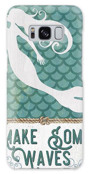 Mythology Galaxy Case - Mermaid Waves 1 by Debbie DeWitt