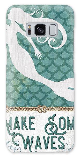Fairy Galaxy S8 Case - Mermaid Waves 1 by Debbie DeWitt