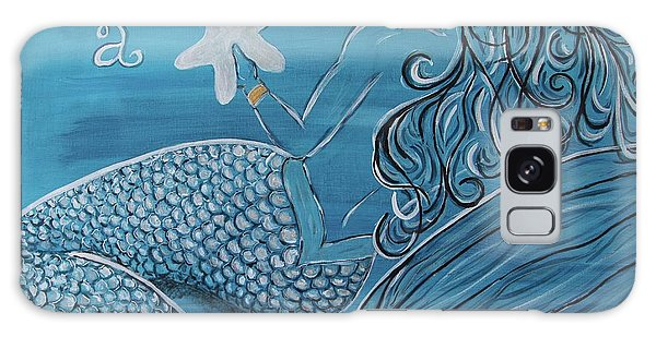 Mermaid- Wish Upon A Starfish Galaxy Case by Megan Cohen