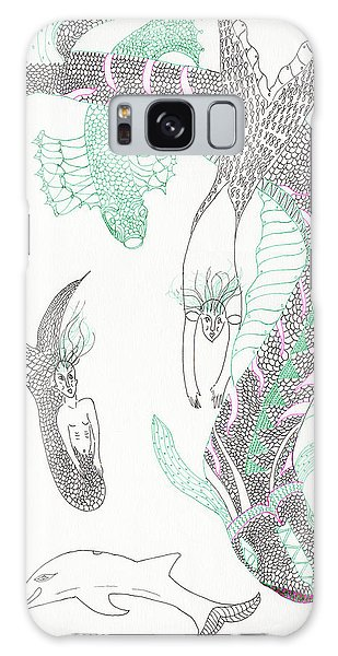 Mermaids And Sea Dragons Galaxy Case