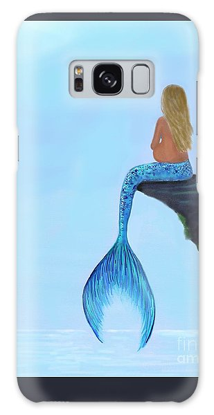 Galaxy Case featuring the painting Mermaids Bundle To Be by Leslie Allen
