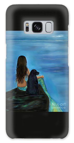 Galaxy Case featuring the painting Mermaids Loyal Bud by Leslie Allen