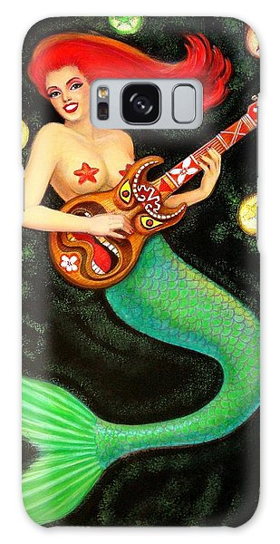 Mermaids Rock Tiki Guitar Galaxy Case by Sue Halstenberg