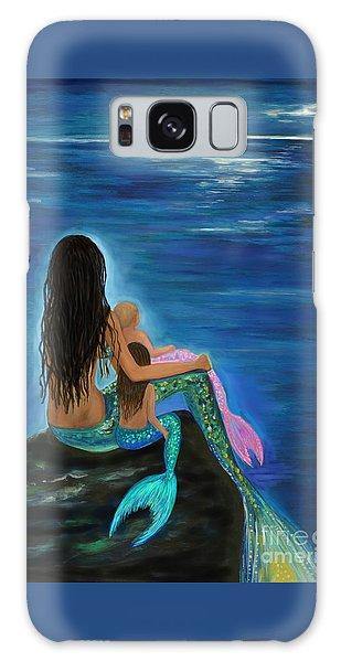 Galaxy Case featuring the painting Mermaids Sweet Little Girls by Leslie Allen